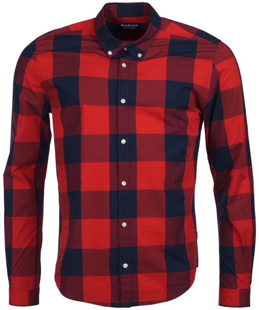 Men's Barbour International Bold Gingham Shirt - Pillar Box Red