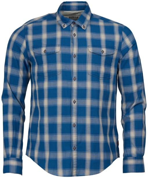 Men's Barbour Steve McQueen Holman Check Shirt - Indigo