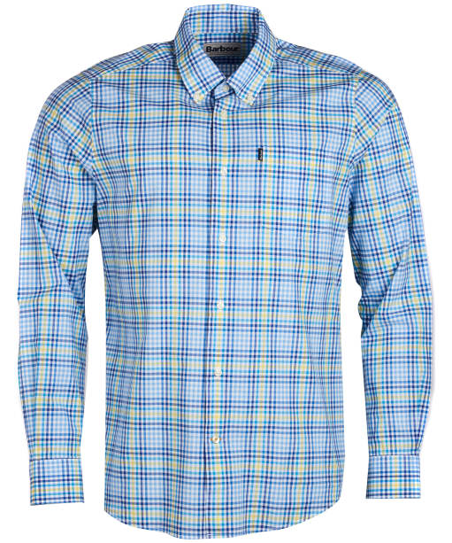 Men's Barbour Tattersall 3 Tailored Shirt - Blue