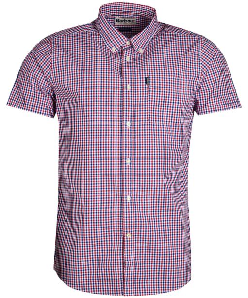 Men's Barbour Gingham 1 Short Sleeved Tailored Shirt - Red