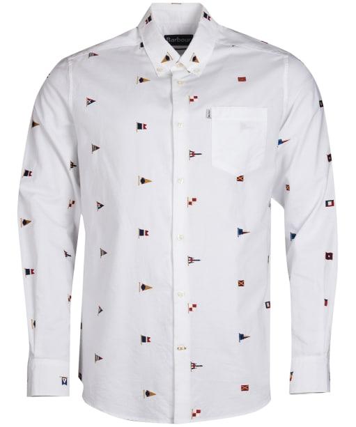 Men's Barbour Oxford Flag Shirt - White