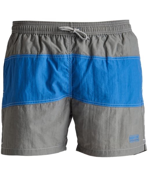 Men's Barbour International Block Swim Shorts - Battle Ship Grey