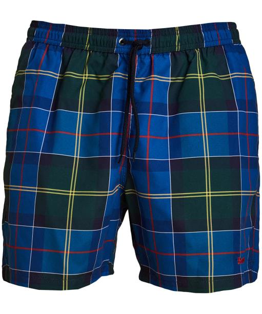 Men's Barbour Tartan Swim Shorts - Blue
