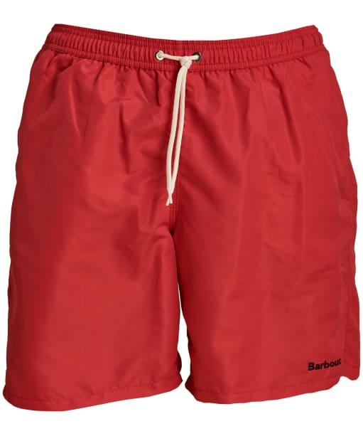 "Men's Barbour Logo 7"" Swim Shorts - Red"