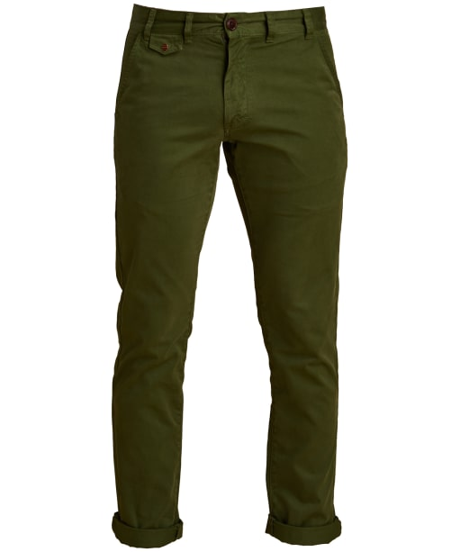 Men's Barbour Neuston Twill Chinos - Burnt Olive