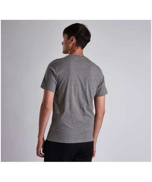 Men's Barbour International Small Logo Tee - Anthracite