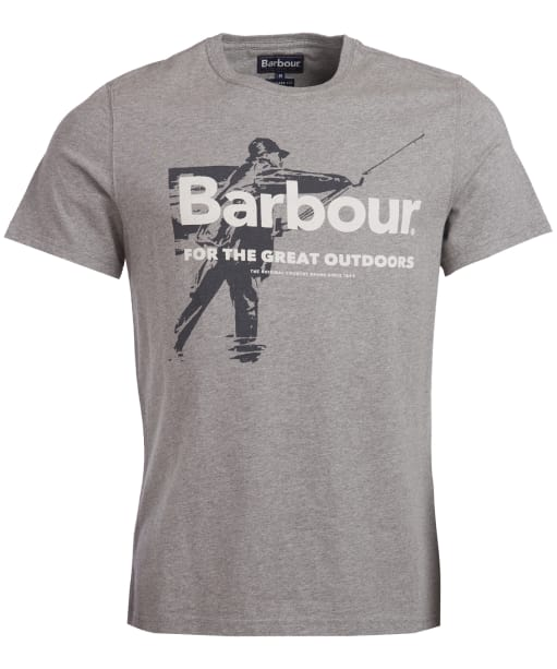 Men's Barbour Outdoors Tee - Grey Marl