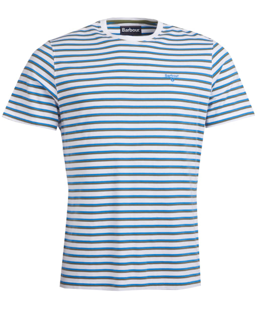 Men's Barbour Crane Stripe Tee - Delft Blue