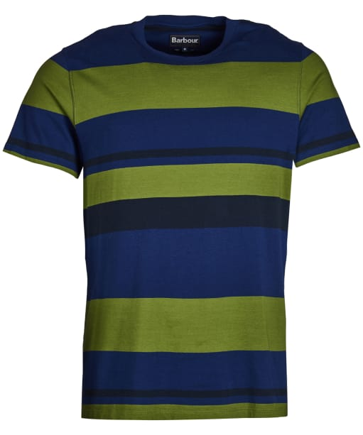 Men's Barbour Longitude Stripe Tee - Inky Blue