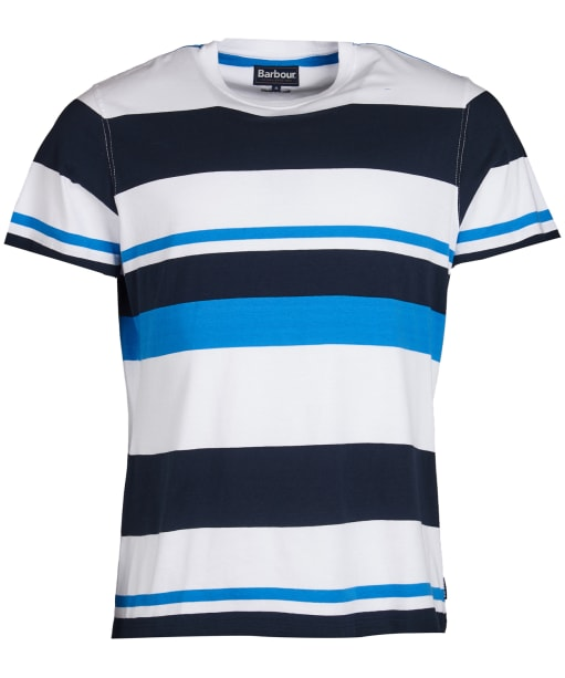 Men's Barbour Longitude Stripe Tee - White