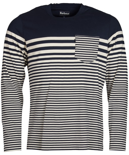 Men's Barbour Triton Striped Long Sleeve Top - Navy