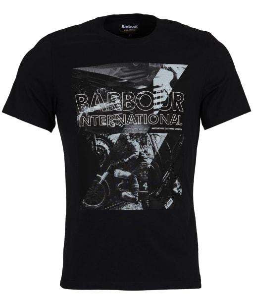 Men's Barbour International Frame Tee - Black