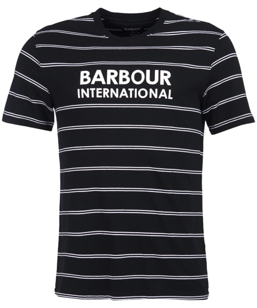 Men's Barbour International Ignite Stripe Tee - Black