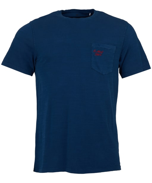 Men's Barbour Steve McQueen Vapour T-Shirt - Dress Blue