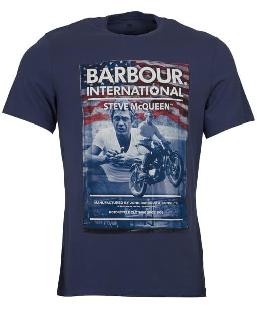 Men's Barbour Steve McQueen Hero Tee - Washed Indigo