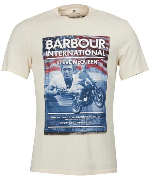 Men's Barbour Steve McQueen Hero Tee - Chalk