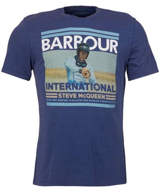Men's Barbour Steve McQueen Time Tee - Washed Indigo