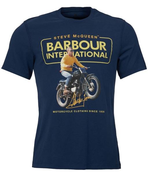 Men's Barbour Steve McQueen Cooler Tee - Dress Blue