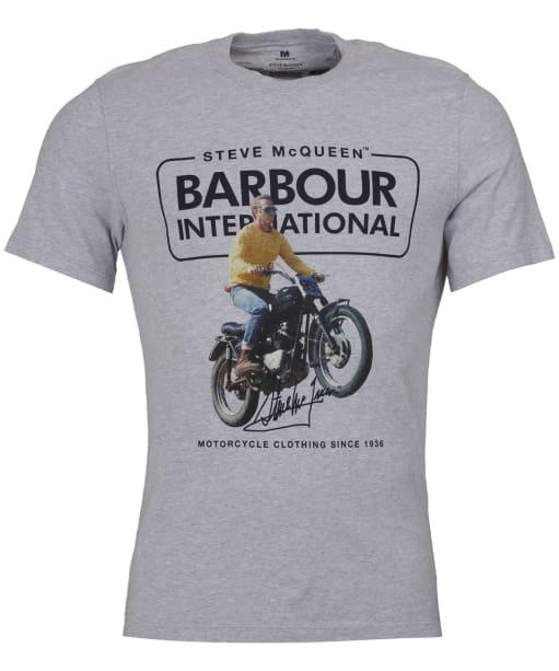 Men's Barbour Steve McQueen Cooler Tee - Grey Marl