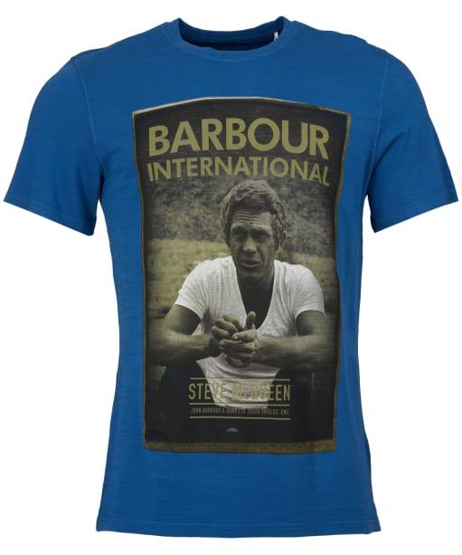 Men's Barbour Steve McQueen Relax Tee - French Blue