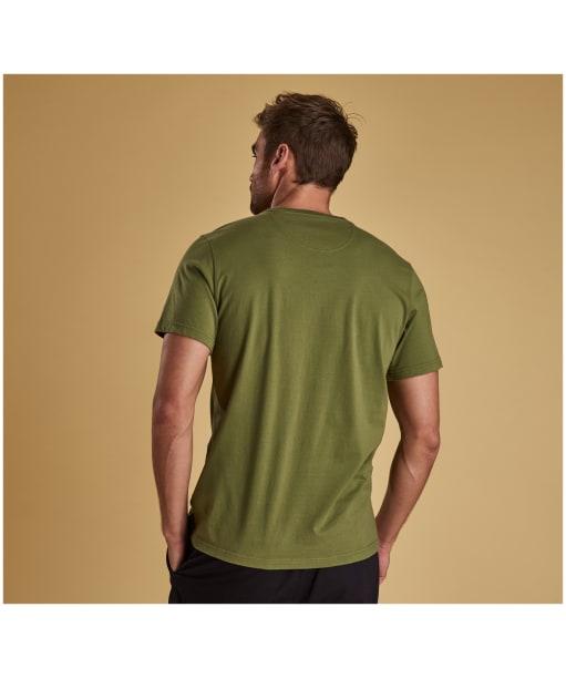 Men's Barbour Logo Tee - Burnt Olive