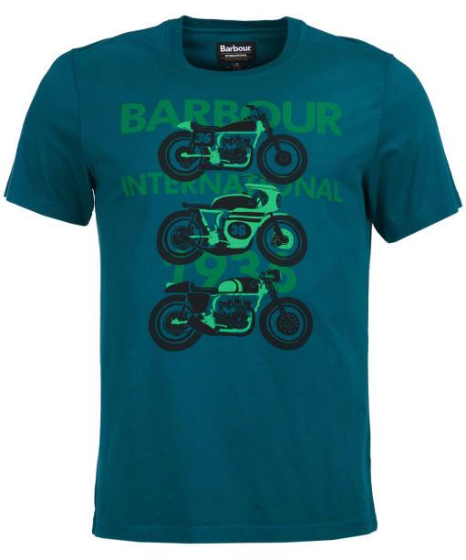 Men's Barbour International Tri Bike Tee - Rich Green