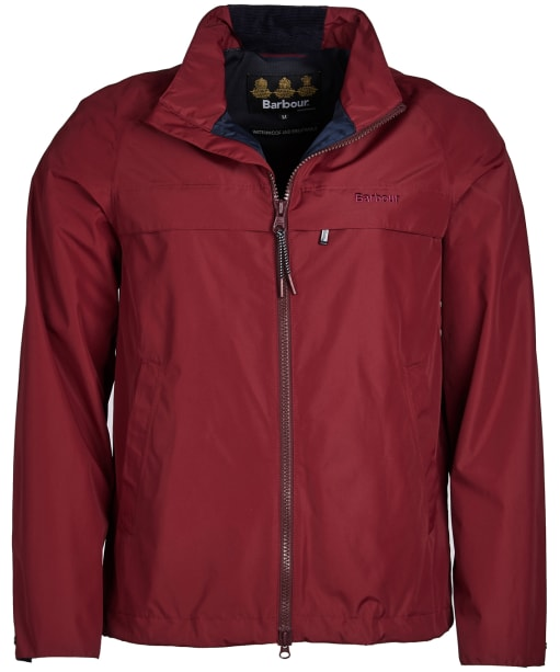 Men's Barbour Skerries Waterproof Breathable Jacket - Carmine
