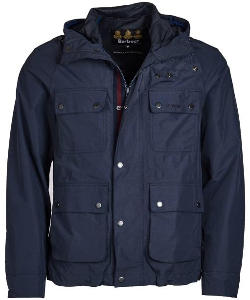 Men's Barbour Hallow Waterproof Jacket - Navy