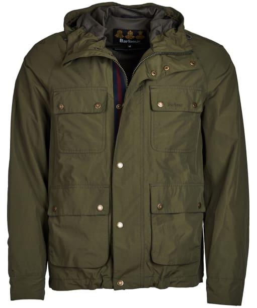 Men's Barbour Hallow Waterproof Jacket - Olive