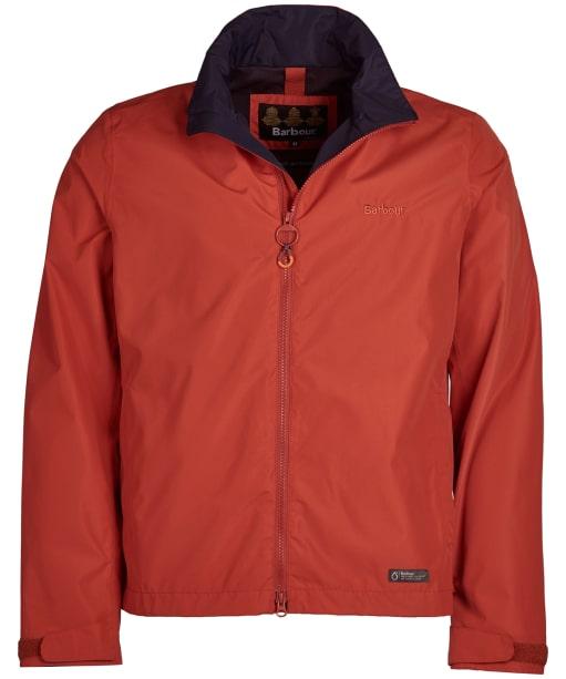 Men's Barbour Rye Waterproof Jacket - Sunset Orange