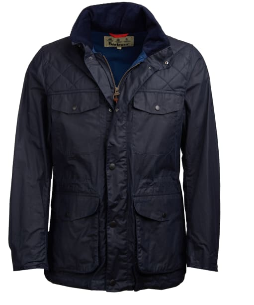 Men's Barbour Clapham Wax Jacket - Royal Navy