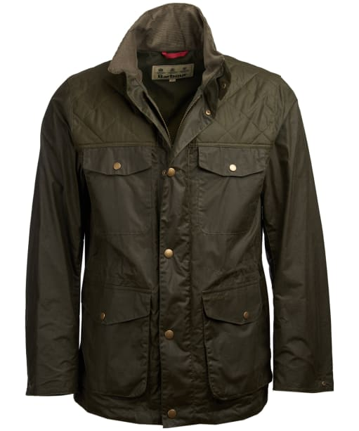 Men's Barbour Clapham Wax Jacket - Archive Olive