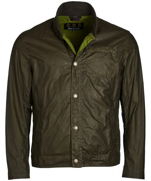 Men's Barbour Longitude Waxed Jacket - Archive Olive