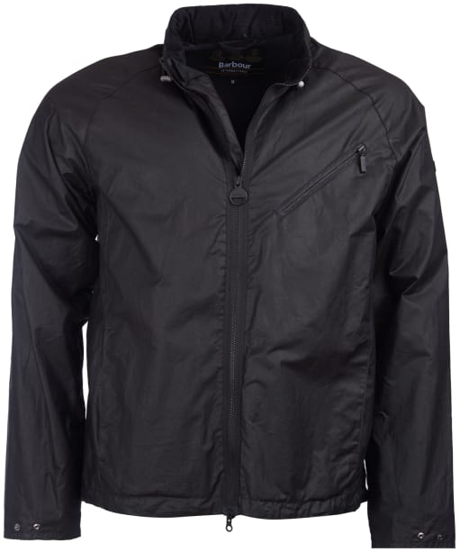 Men's Barbour International Optic Copy Waxed Jacket - Black