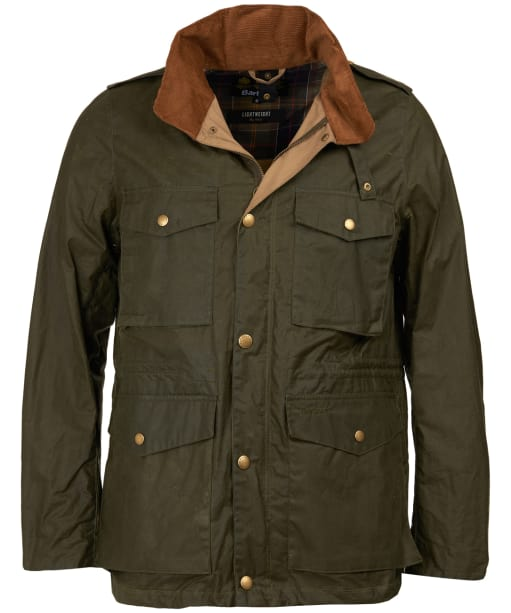 Men's Barbour Lightweight Orel Waxed Jacket - Archive Olive