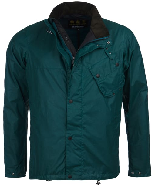 Men's Barbour International Beech Waxed Jacket - Rich Green