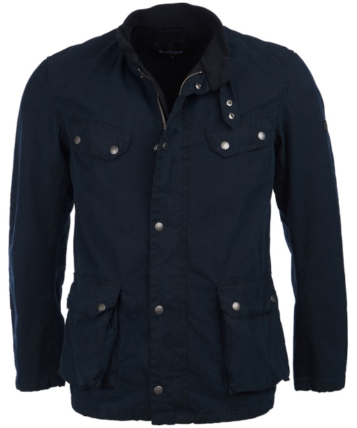 Men's Barbour International Caxton Waxed Jacket - Washed Navy