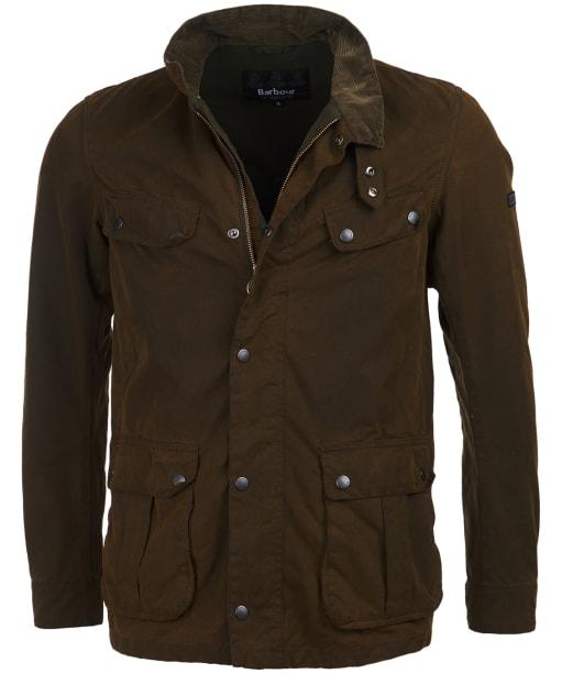 Men's Barbour International Washed Duke Waxed Jacket - Washed Olive