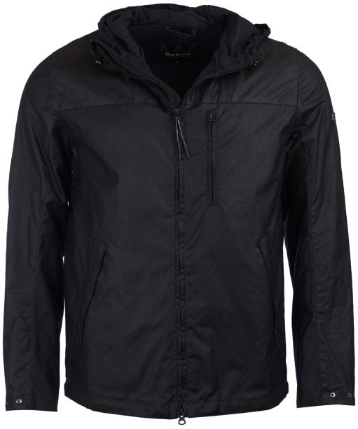 Men's Barbour International Lanark Waxed Jacket - Black