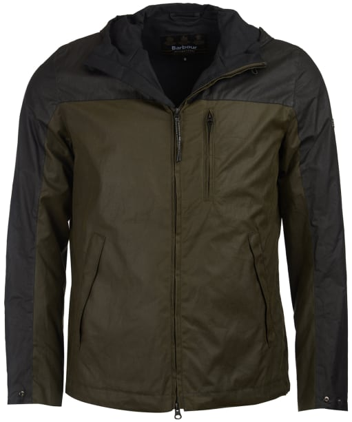 Men's Barbour International Lanark Waxed Jacket - Archive Olive