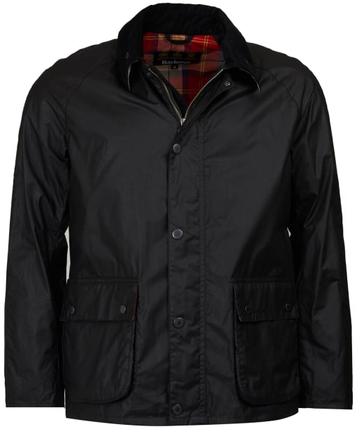 Men's Barbour Glen Waxed Jacket - Black