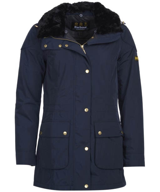 Women's Barbour International Garrison Waterproof Jacket - Navy