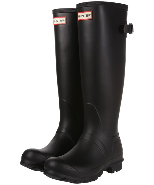 Women's Hunter Original Back Adjustable Wellington Boots - Black