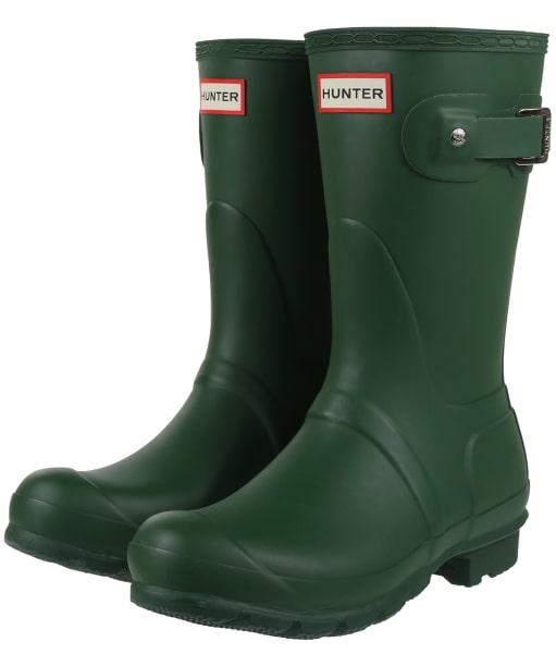 Women's Hunter Original Short Wellington Boots - Green