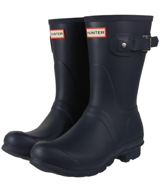 Women's Hunter Original Short Wellington Boots - Navy