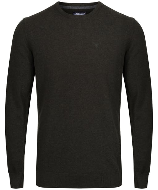 Men's Barbour Essential Lambswool Crew Neck Sweater - Seaweed