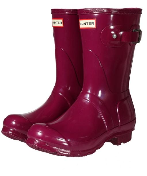 Women's Hunter Original Short Gloss Wellington Boots - New Violet