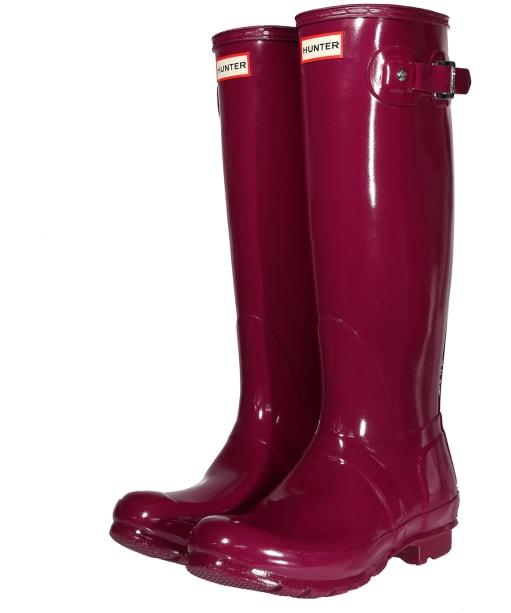 Women's Hunter Original Tall Gloss Wellington Boots - New Violet
