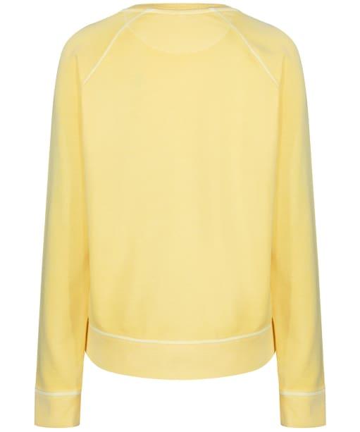 Women's GANT Sunbleached Crew Neck Sweatshirt - Lemon