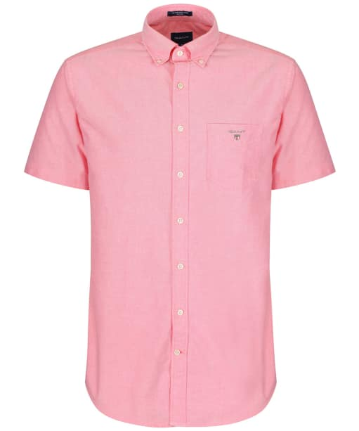 Men's GANT Short Sleeved Oxford Shirt - Watermelon Red